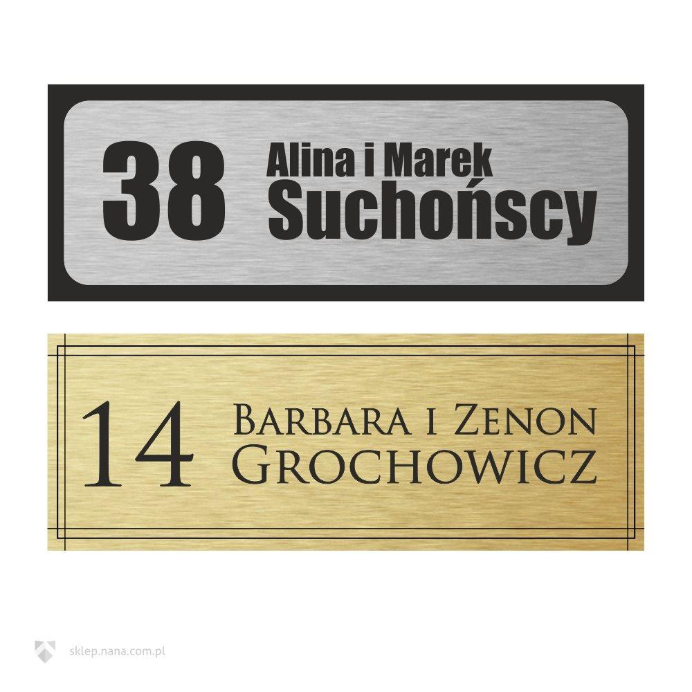 Świeże Tabliczka na drzwi z Twoim nazwiskiem i numerem mieszkania SX46