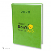 w007 DONT FORGET TO SMILE Kalendarz 2020 A5 na prezent, nadruk